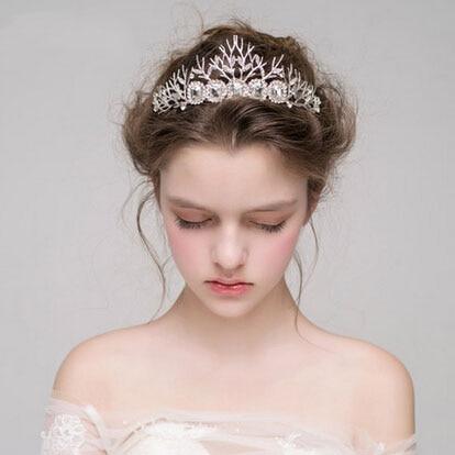 Venda Del Pelo de la novia Hecho A Mano de Lujo Crystal Crown Tiaras de Novia