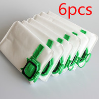 6pcs Dust Filter Bag Replacement For VK140 VK150 Vorwerk Garbage Bags FP140 Bo Rate Kobold Vacuum