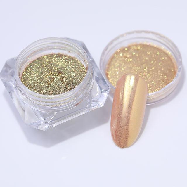 1Box 1g Nail Art Glitter Chrome Pigment Decorations Magic Mirror Nail Glitter Powder Gold Blue Purple Dust Manicure