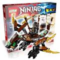 114 шт. Бела 10447 Ninja коула Дракон Модель Строительство Комплекты Детские Игрушки Совместимость С Lego