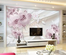 beibehang Custom mural 3d stereo photo wallpaper luxury diamond flower jewelry background wall paper painting papel de parede