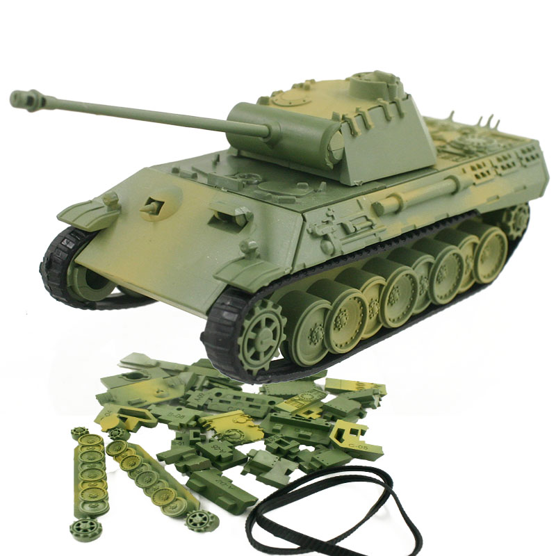 4D Model Building Kits Military Assembly Panzerkampfwagen V Panther Tank Car  Educational Toys Collection High-density Material