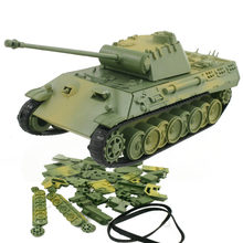 4D Model Building Kits Military Assembly Panzerkampfwagen V Panther Tank Car Educational Toys Collection High-density Material(China)