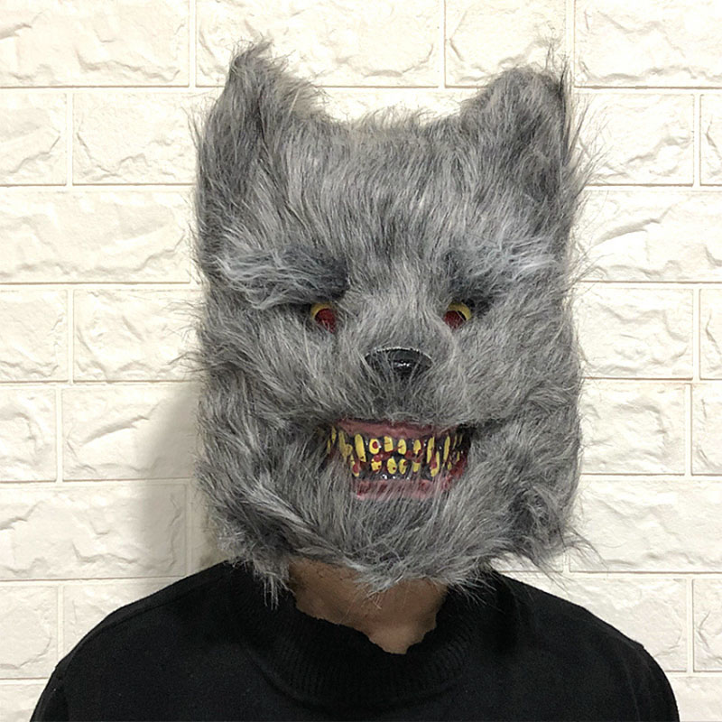 Happy Halloween Decoration 2019 Hallowen Bloody Animal Horror Mask party Costume Dress Supplies Bloody Face Cosplay Ghost in Party DIY Decorations from Home Garden