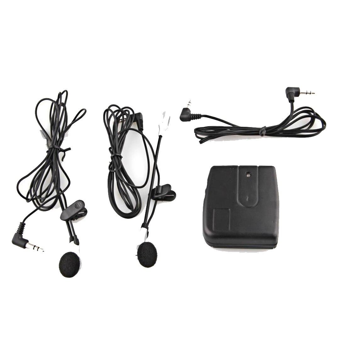 Dewtreetali Sports Motorbike Helmet 2-Way Intercom Headset Black + Earphone Stereo