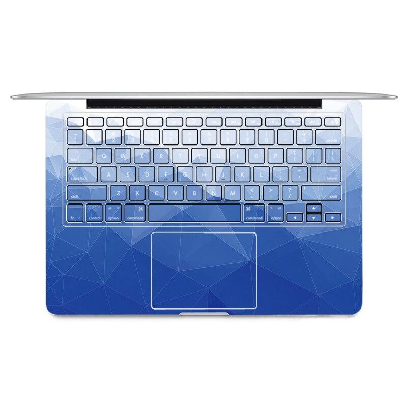 2016 Grandiant Blue Print Laptop Sticker Keyboard Side