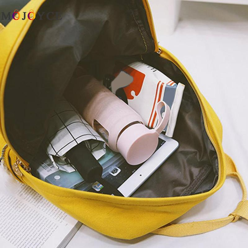 df632695db3a Preppy Style Women Girls Canvas Backpack Teen Vintage Casual Shoulder  School Backpack korean style Rucksack Mochila Feminina -in Backpacks from  Luggage ...