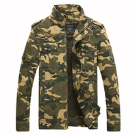 drop shipping Men Camouflage Pilot Bomber Jacket Military Mens Jacket And Coat Tactical Windproof Male Jackets Outwear LBZ04