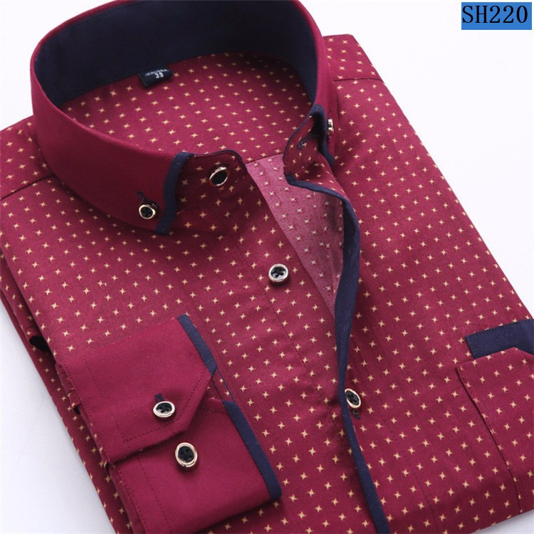 HTB1BLTzMpXXXXa XFXXq6xXFXXXz - 2017 Men Fashion Casual Long Sleeved Printed shirt Slim Fit Male