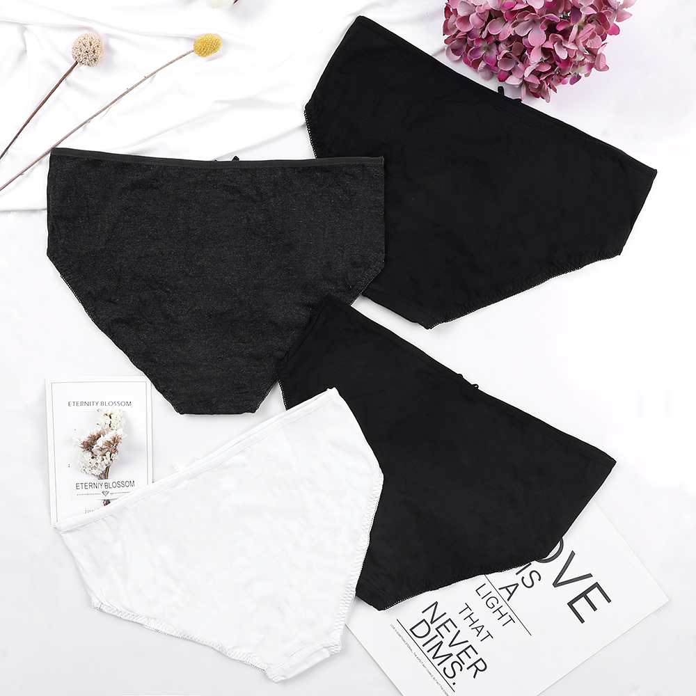 Charmleaks Women 39 s Panties Bow knot Underwear Hipster 4 Packs Cotton Soft Stretch Cozy Mid Waist Ladies High Quality Hot Sale in women 39 s panties from Underwear amp Sleepwears