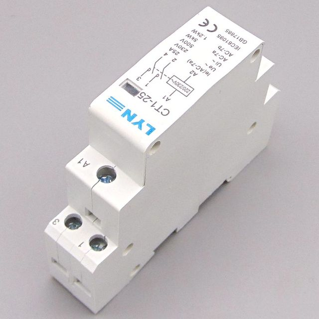 CT1-25 2P 25A household AC contactor /Household contact module 2NO LYN
