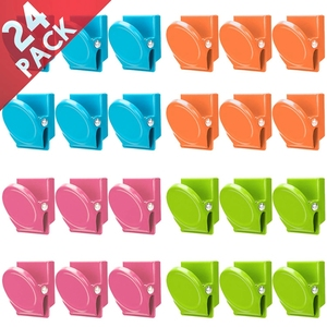 Image 3 - Magnetic Clips, 24 Pieces Magnetic Metal Clips, Refrigerator Whiteboard Wall Fridge Magnetic Memo Note Clips Magnets Metal Cli
