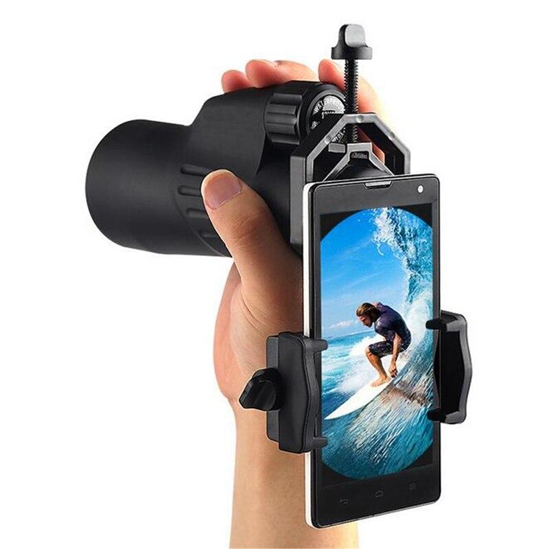Universal Cell Phone Binocular Adjustable Adapter Mount Microscope Spotting Scope Telescope Clip Bracket Mobile Phone Holder