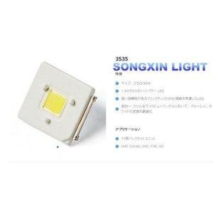 Image 3 - 300pcs LUMENS LED Backlight 2.4W 3V 3535 3537 Cool white LCD Backlight for TV TV Application