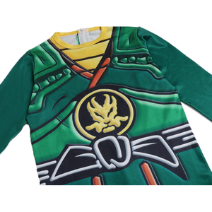 Image 3 - Green Ninjago Costume Kids Boys Jumpsuits Children Halloween Christmas Costume for Kids Fancy Party Clothes Ninja Costume Suits