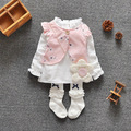 Littlespring retail 2 pcs sets of baby 2016 fashion brand ladies baby clothes baby clothes girl sets of clothes Free shipping