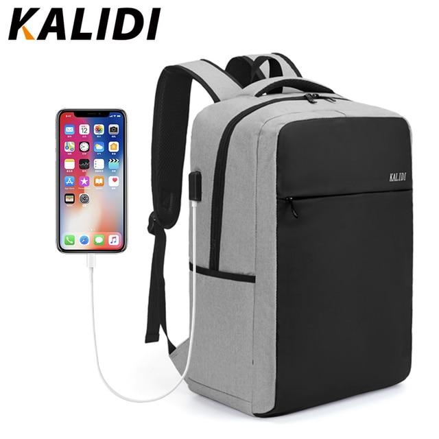 KALIDI 15.6 inch Laptop Men Backpack Multifunction Waterproof School Student Backpack 17.3 inch Anti theft Backpack Women 2018