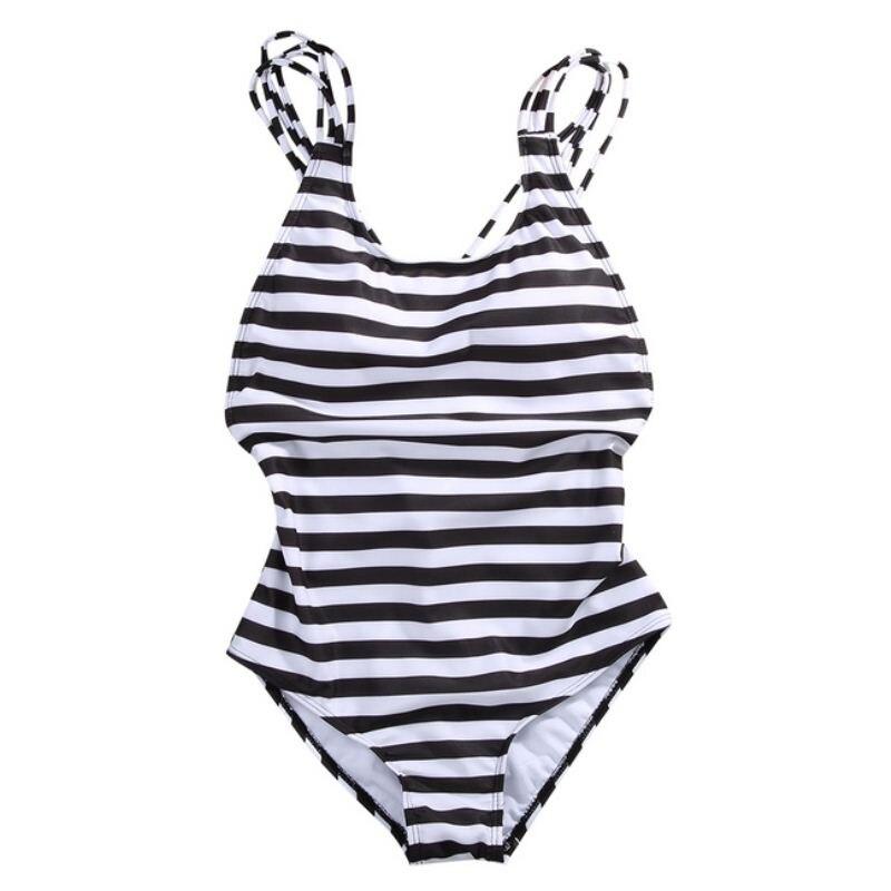 Sexy Women's Swimwear One Piece Swimsuit Monokini Striped Padded Bikini Bathing 2017 Hot Selling 1