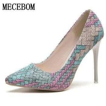 Shoes Woman 2018 High Heels Ladies Pumps Sexy wedding shoes Footwear pumps platform bottom sapato feminino chaussure 618W