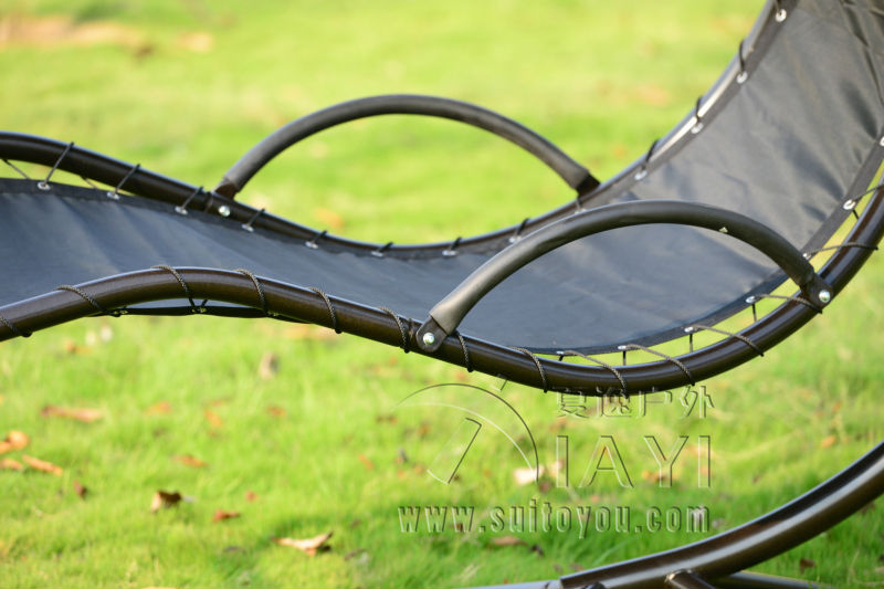 Hanging Chaise Lounger Chair Arc Stand Air Porch Swing Hammock Chair Canopy in Patio Swings from Furniture