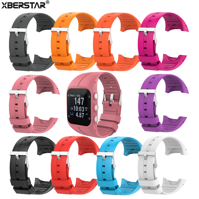 XBERSTAR Replacement Silicone Watch Strap Wrist band for <font><b>Polar</b></font> M400 <font><b>M430</b></font> Watchbands GPS Running Smart Sports Watch WristStrap image