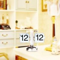 Vintage Retro Scale Modern Scale Digital Auto Flip Stand Home Desk Clock White