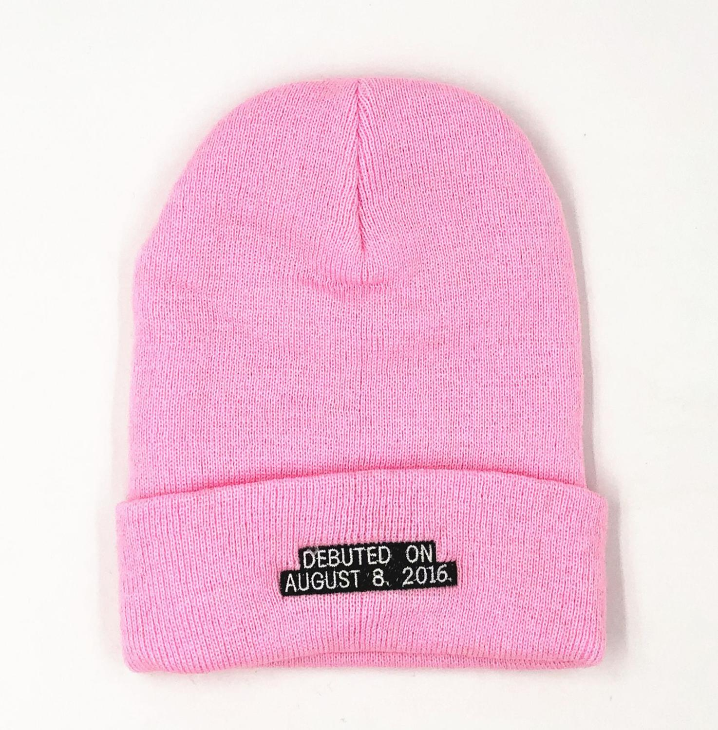 BLACKPINK IN YOUR AREA 2019 BEANIE Pink Beanies hat cap