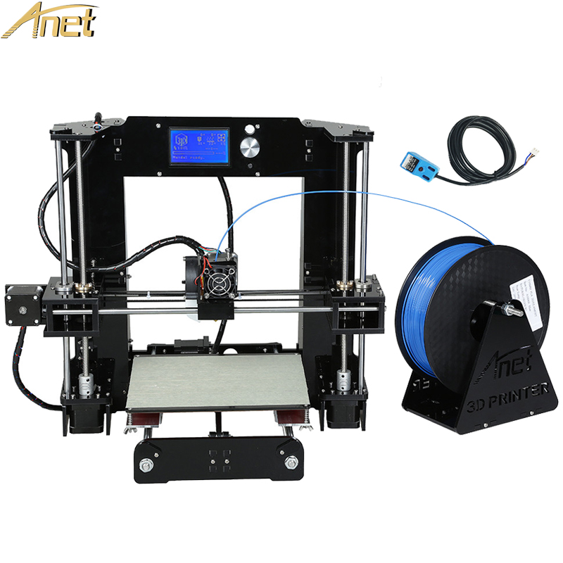 Update Anet A8 Auto A6/Normal A8 A6 3d Large Printing Size Reprap 3D Printer Kit DIY With Free Filaments SD Card Software 2017 new anet easy assemble 3d printer upgrated reprap prusa i3 3d printer large print size kit diy with filament 16gb sd card