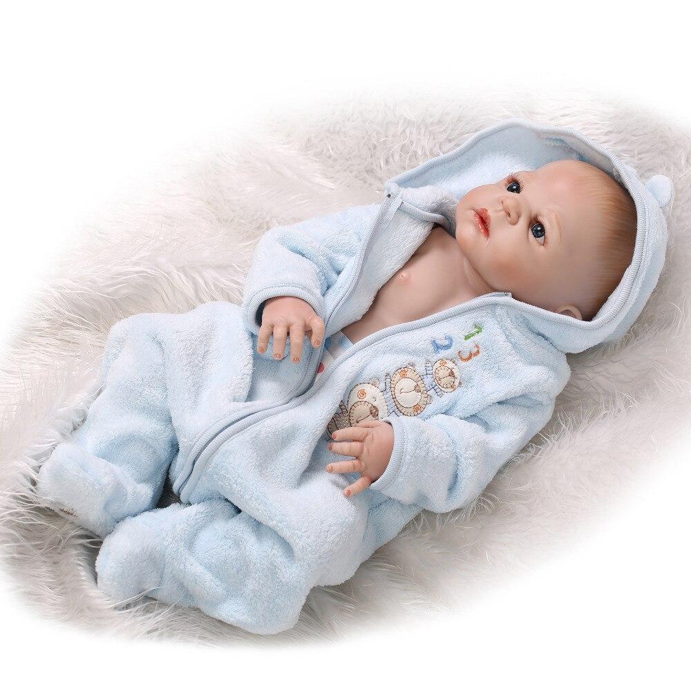 22/'/' 57cm Full Silicone Reborn Baby Doll Bathe Reborn Doll Best Bebe