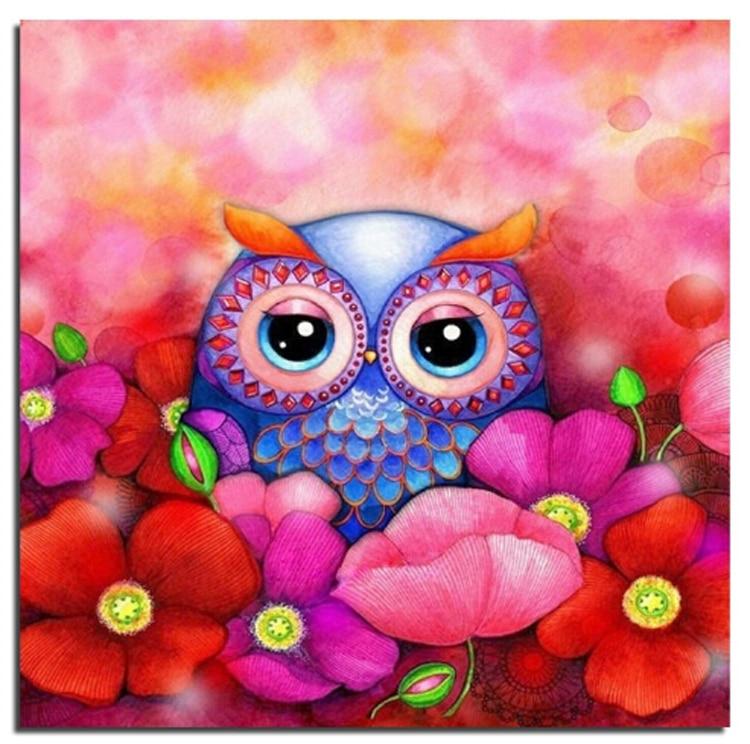 3D Owl 20X20 100% FULL DRILL Yeni İynə İşləri Diy Almaz Rəsm - İncəsənət, sənətkarlıq və tikiş - Fotoqrafiya 1