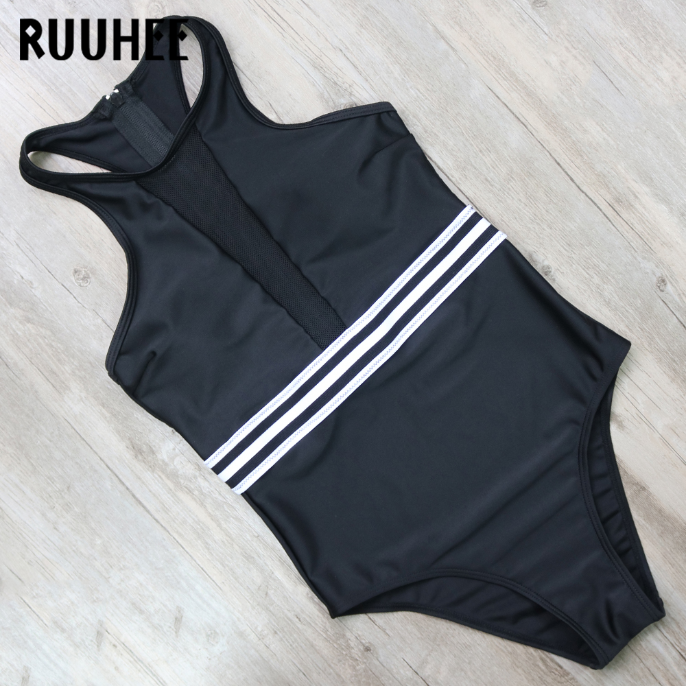 RUUHEE One Piece Swimsuit Swimwear Women Swimsuit Sexy Mesh Bodysuit Push Up Bathing Suit High Neck Beachwear Monokini Biquini tequila por favor letter custom swimsuit one piece swimwear bathing suit women sexy bodysuit funny swimsuits jumpsuits rompers