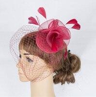 Multiple color attractive crinoline fascinator headwear colorful mesh birthday  headpiece dance hat suit for all season MYQ063