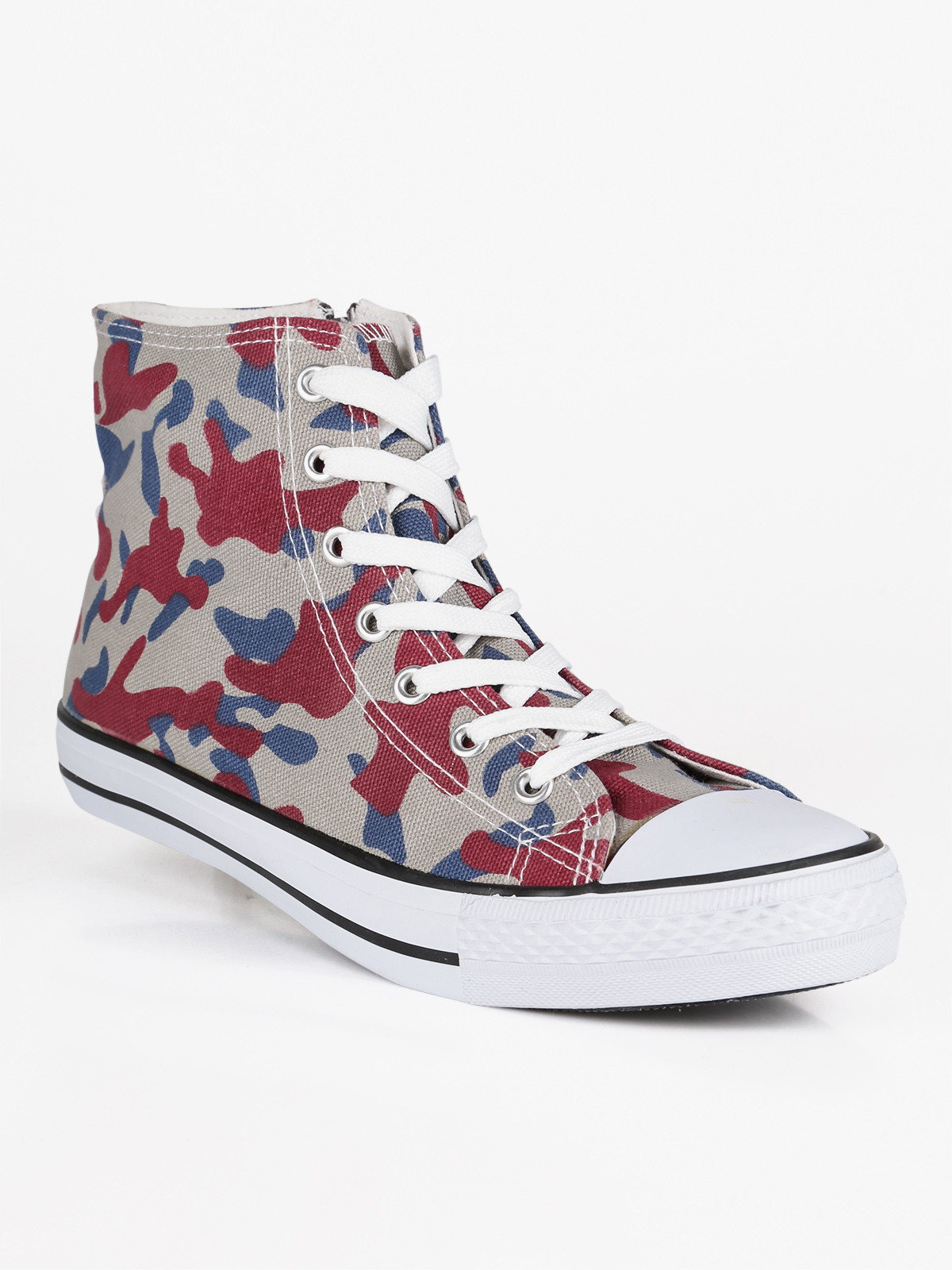 Woman Camouflage Ankle-high Sneaker Flat Bottom Sports Shoes