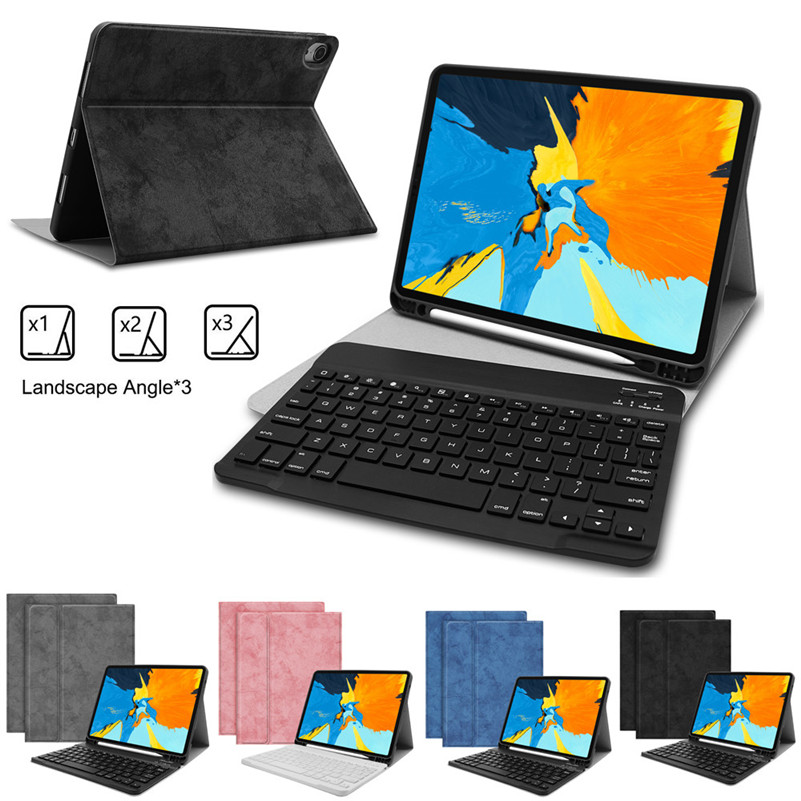 Ultra-slim Bluetooth Wireless Keyboard For IPad Pro 11 Inch Tablet Case PU Leather Cover With Wireless Bluetooth Keyboard 3B23