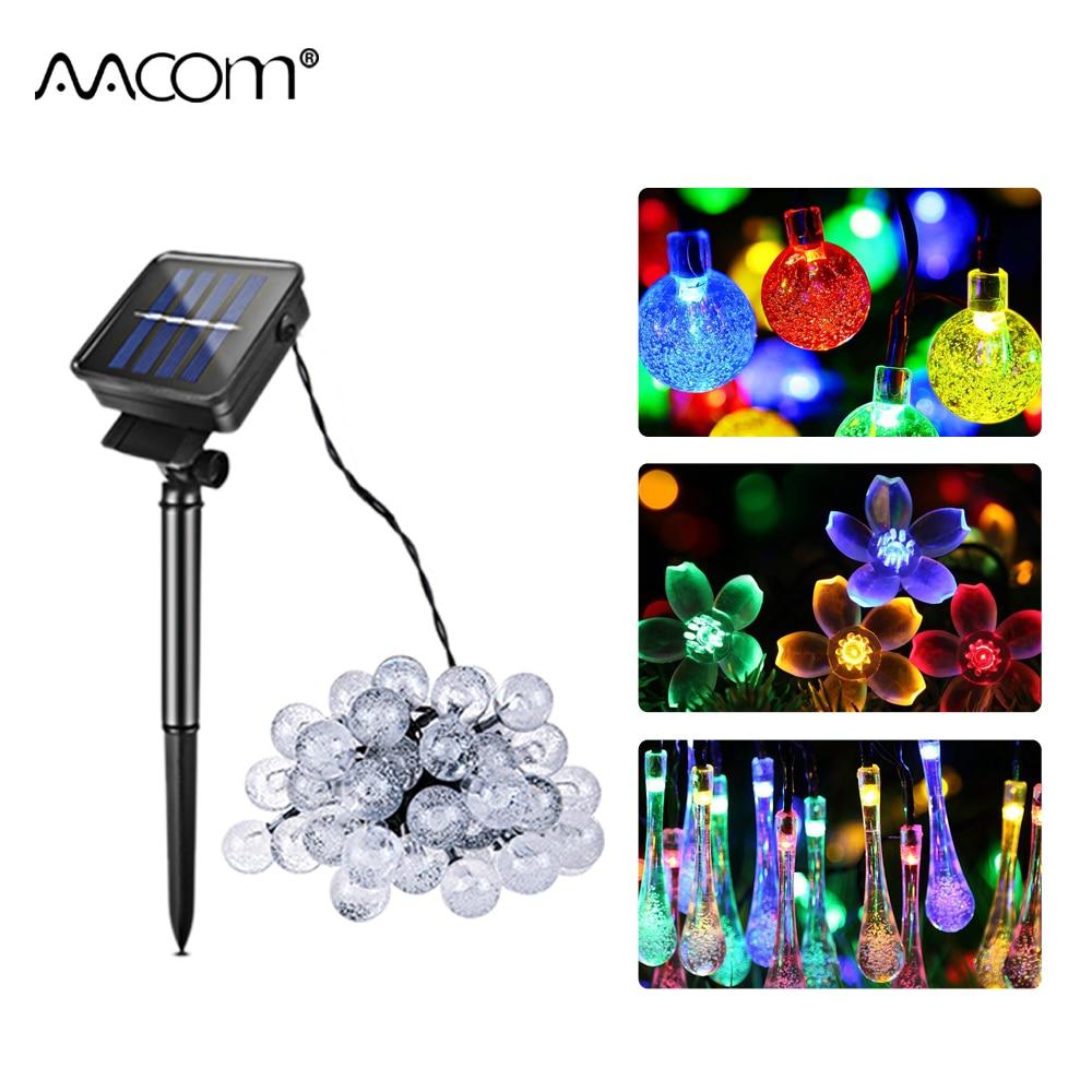 6 mt 7 mt Solar Lampen 8 Modi RGB LED String Fairy Lichter 30/50 LEDs IP65 Garten Landschaft Licht Guirlande solaire Weihnachten Lampe
