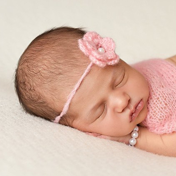 Woolen Flower Headband children Tieback Eco Newborn Headband Flower Headband Rope Headband Newborn Props Baby Prop