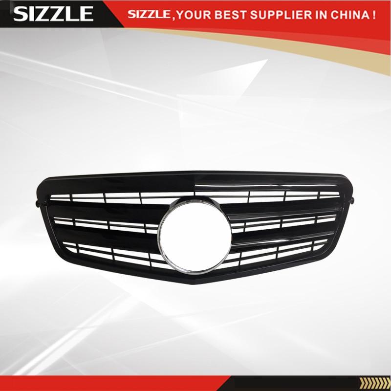 ABS-plast, helt svart auto-frontgitter til Mercedes W212 E-klasse - Bildeler - Bilde 1