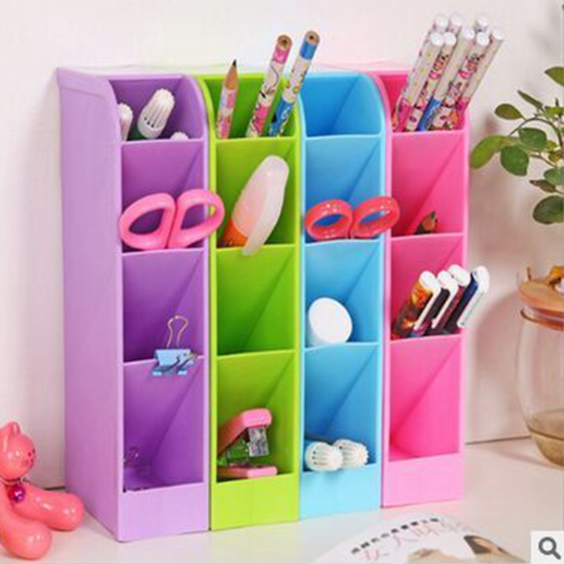 2016 hot sale Storage boxes colorful makeup organizer useful storage box cute plastic office desktop