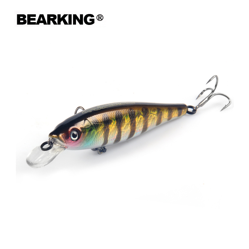 Bearking Bk17-M100 Suspending Minnow 1PC Fishing Lure 10cm 17.5g 1.8M Artifical Hard Baits Wobblers quality Hooks Lifelike Body