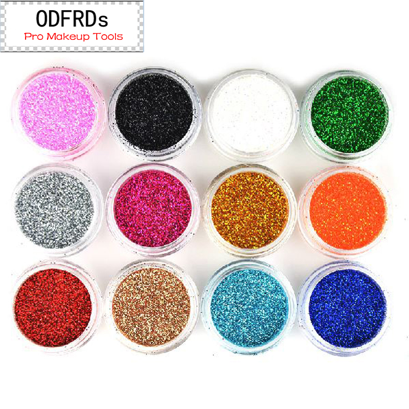 10 Colors Painting Supplies Art Sets Nail Decoration Glitter Used With Oil Paints Super Bright Flash Fine Powder  M522-10PC