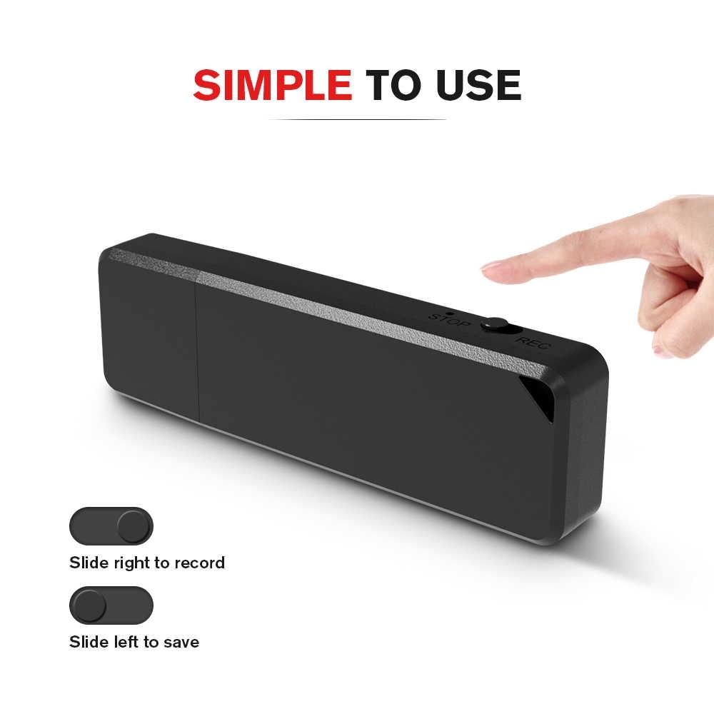 Vandlion 8GB 16G 32G akumulator Mini dyktafon WAV Audio Pen cyfrowy napęd usb dyktafon Gravador de voz Professional X1