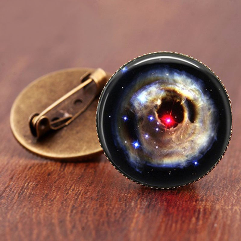 SUTEYI 2017 Sale Charming Astronomy Geek Jewelry Sci-fi Science Galaxy Brooch Gift Wholesale Outer Space Nebula Pture Brooches 3