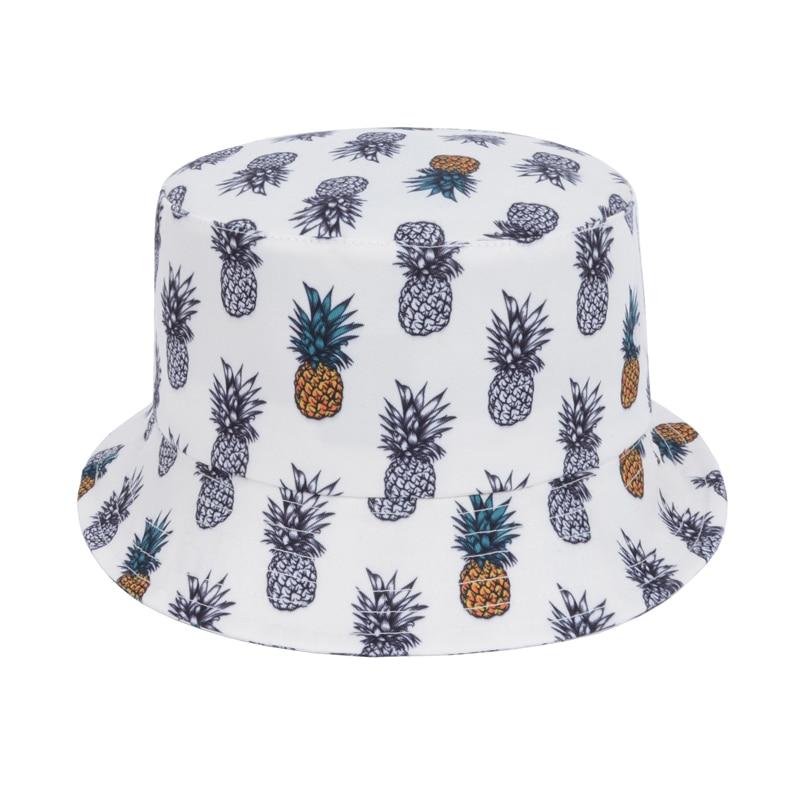 Fashion Pineapple Bucket Hat White Fishing Hat Unisex Gorras Bucket Cap  Bone Touca Fisherman Cap Bob Casquette Goldtop-in Bucket Hats from Apparel  ... 7cb5854270c