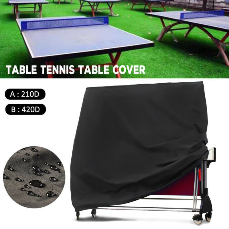 Ping Pong Table Cover Waterproof UV Folding Table Tennis Cover Protective Cover