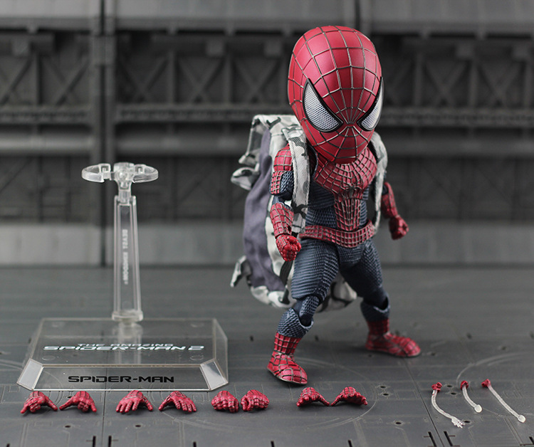 ALEN NEW hot 18cm Spider-Man Homecoming avengers Q version action figure toys Spiderman Christmas gift doll new hot 18cm naruto hyuga hinata hinata hyuga combat version action figure toys collection christmas gift doll