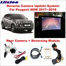Liislee Rear Camera For Peugeot 4008 2017~2018 Original Screen Update Reversing Track Image Module Reverse Digital Decoder