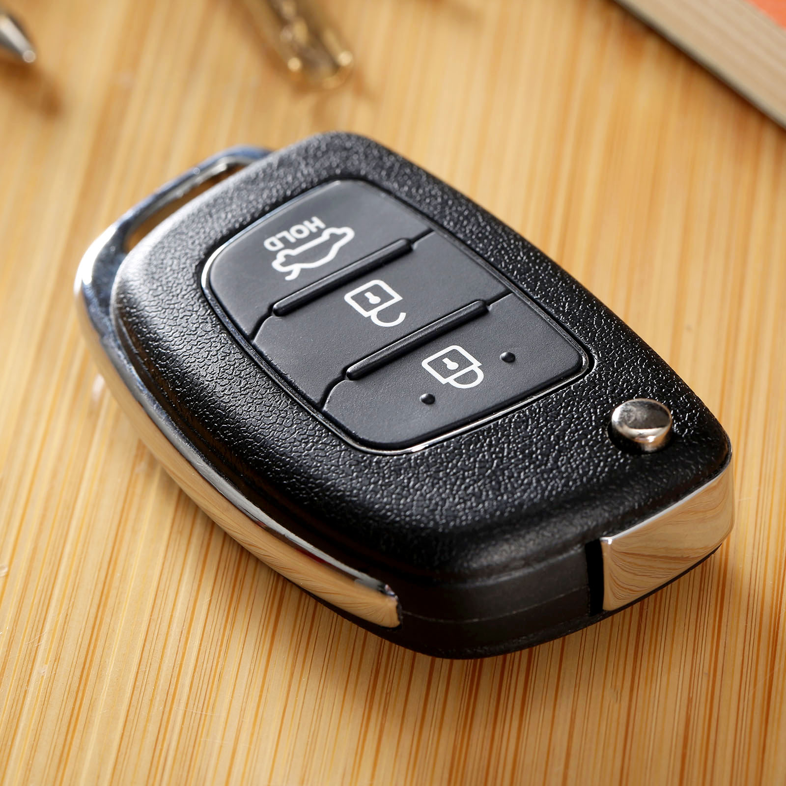 Auto Replacement Shell 3 Buttons Flip Folding Remote Key Case Fob for HYUNDAI ix45 Santa Fe Keyless Entry Cover Parts