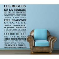 Adesivo De Parede House Rules Of French Version Quote Waterproof Wall Stickers Home Decor Vinyl Art