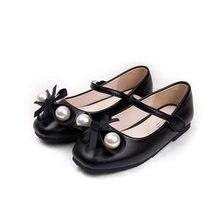 d33d8349 ULKNN 2019 niñas zapatos nuevos zapatos de niños negro versionbow zapatos  de princesa zapatos plano Rosa