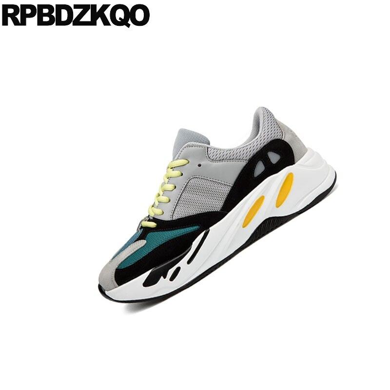 Casual Plate Personnalisée Respirant Luxe Marque Hommes 11 Haute black Orang Suede Lacent gris Sneakers Creepers Grande Noir Green Taille Formateurs blanc Printemps forme De Qualité dwqnI4